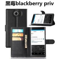 For BlackBerry PRIV Flip Wallet Slot Case/Cover/Card Holder Kickstand Pouch