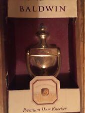 New Baldwin Lifetime Brass Colonial Door Knocker 90102.003