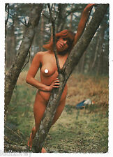 CPSM A72 PIN-UP ROUSSE SEXY TOPLESS MISS NUE NATURISME NUDISME FRENCH BEAUTY