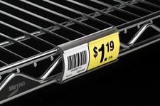 Grocery Store Shelf Price Label Holders Metro Wire Shelf Label Holders Lot Of10