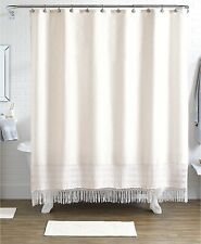 Idea Nuova Pure Bath 15-Piece Shower Curtain, Hooks & Rugs Set Ivory P98003