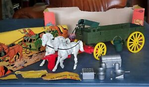 VINTAGE ROY ROGERS BUCKBOARD w/ Box by IDEAL STAGECOACH HORSES ACCESSORIES