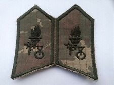TURKISH ARMY DIGICAM COLLAR BADGES SET1.