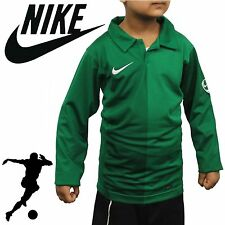 2017 Nike Harlequin Kids Long Sleeve Football Rugby Style Shirt T-shirt Polo Green XL - 13-15 Years Old