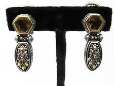 John Hardy Peridot Quartz 18kt & Sterling Silver Dangle Earrings