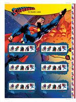 SUPERMAN = Comic Book HERO = UNCUT PRESS SHEET Canada 2013