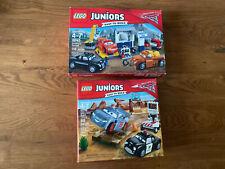 Lot Of 2 LEGO JUNIORS DISNEY PIXAR CARS 3 SMOKEY'S GARAGE 10743 And Willys 10742