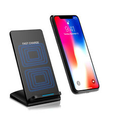 Qi Fast Charger Wireless Ladegeräte Ladestation Dock iPhone 8+ X Samsung S7 S8