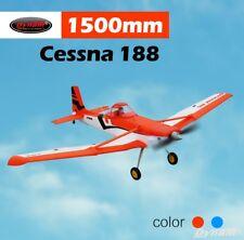 Dynam RC Airplane Scales Cessna 188 Orange 1500mm Wingspan - PNP
