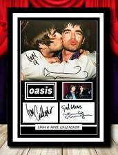 More details for (#346) noel & liam gallagher  oasis signed a4 photo//framed (reprint) @@@@@@@@@@