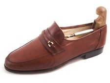 Moreschi Moccasin Loafers Brown Leather Mens Size EU 42.5 US 9.5
