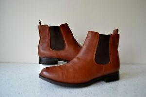 """CLARKS NARRATIVE """"MARIELLA BUSBY"""" CHESTNUT LEATHER ANKLE BOOTS UK5.5D RRP £79.00"""