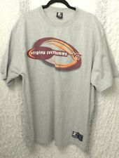 Team Starter Virginia Tech Hokies Mens Graphic T-Shirt Size XL Gray Cotton Blend