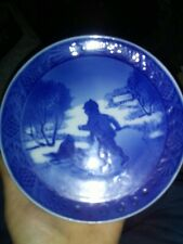 Royal Copenhagen Christmas Plate 1965 Little Skaters Kai Lange
