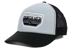 Quiksilver Freeway Trucker Snapback Mesh Gray & Black Cap Hat $25 Adjustable