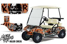 Club Car Golf Cart Wrap Graphics Vinyl Sticker Decal Kit 1983-2014 CIRCUS ORANGE