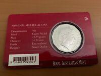 CB1531) Australia 2007 RAM Royal 60th Wedding Anniversary UNC 50c coin