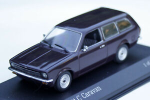 Opel Kadett C Caravan Bj. 1973-1977, Wine Red, Minichamps-Modell IN M.1: 43