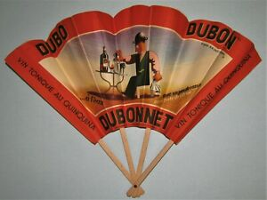 1935 Ad Fan for Dubonnet with great character!!  by d'apres A.M. Cassandre