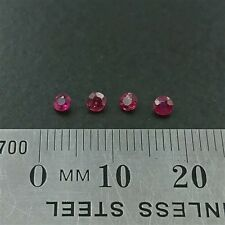 NATURAL LOOSE RUBIES x4 - Round cuts - 2.7mm Round Red Ruby - FREE POST