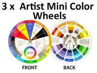 3 x Artists Colour Wheel Mixing Colour Guide 13cm Pocket Artist Colour Wheel