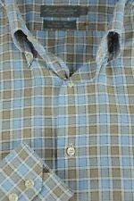 Daniel Cremieux Hombre Azul&Blanco Algodón Camisa Informal L GRANDE