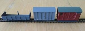 Job Lot Three 7mm 16.5 Narrow Gauge Wagons Project - for spares or repair