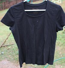 Women's Black Dressy T-Shirt by Faded Glory Stretch; Size:Large