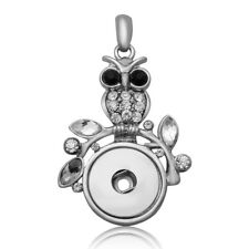 Hot Women Crystal Jewelry Necklace Pendant Fit 18mm Noosa Snap Button N171