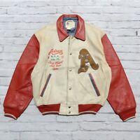 Vintage Avirex District Champs All Star Team Leather Varsity Jacket Basketball