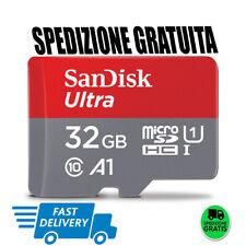 ORIGINALE MICRO SD SANDISK ULTRA 32GB CLASSE 10 98MB/S SCHEDA MEMORIA CELLULARE
