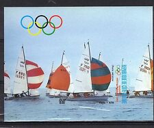 IVORY COAST (FRANCE) MNH 1987 SUMMER OLYMPICS PAIRS + SOUVENIR SHEET ALL IMPERF