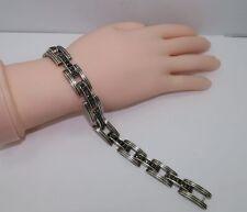 "DAVID YURMAN - RARE Sterling Silver Black Diamond Royal Cord Men's 9"" Bracelet"