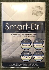 Smart-Dri by Living Textiles Waterproof Fitted Crib Mattress Protector
