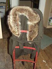 Vintage Crissa Linnea Italiana Made in Italy sweater coat with fox? fur collar M