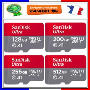 Carte Mémoire Micro SD ✓Class 10 SDHC 128 200 256 512 Go Gb ✓ Original SanDisk ✓