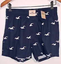 "Nwt Hollister White Seagull Navy Blue Boxer Shorts, M (Waist 31-32"")"