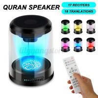 7 Color LED Lamp Quran Speaker Coran Player Islamic Muslim Prayer Remote