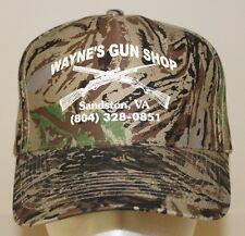 Wayne's Gun Shop Black Green Brown Camo Adjustable Snapback Baseball Cap Hat New