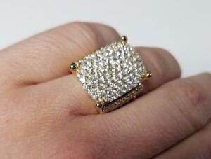 $12 000 DAVID YURMAN 18K GOLD 20X16 Wheaton 2.06 CTW PAVE DIAMOND RING sz 7,25