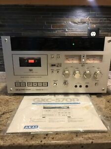 Akai GXC-570D Stereo cassette Deck Sensi-touch Control System; TESTED!