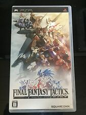 FREE SHIPPING Playstation Portable PSP Final Fantasy Tactics The War Of The Lion