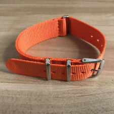 20mm orange Nylon band watch strap D11