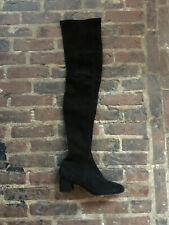 & OTHER STORIES cuissardes bottes daim noir SOLD OUT black knee boots