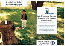 Publicité Advertising 088  1997  Hypermarché Carrefour lait de montagne  (2 page