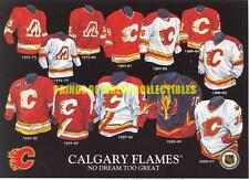 HISTORY OF THE JERSEY CALGARY FLAMES 5X7 PHOTO c9c4467d0