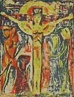 Expressionistisch signiert Bader - Kreuzigung