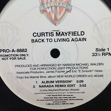 "CURTIS MAYFIELD - BACK TO LIVING AGAIN -  12"" VINYL RECORD Warner"
