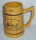 "Fair Lawn Fire Department Stein Mug Cup Vtg 1975 Horse NJ NY Convention 5.75"""