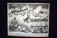 La Jeannette: Il tenente Dannenhower, il dott. Newcombe Incisione del 1882